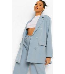 oversized lange dad blazer, dusty blue