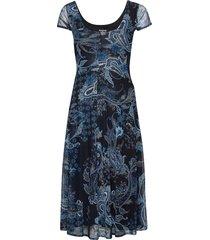 vest capri knälång klänning blå desigual