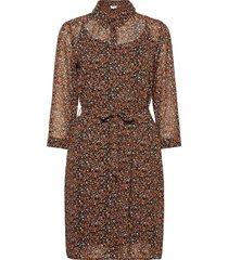 tally dress jurk knielengte bruin minus