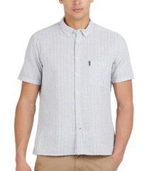 barbour men's stripe seersucker shirt