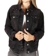 chaqueta nantes ii negra divino jeans