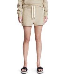 women's rag & bone city mini organic cotton sweat shorts, size small - beige