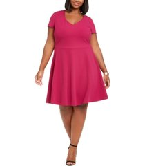 b darlin trendy plus size bow-back skater dress, created for macy's