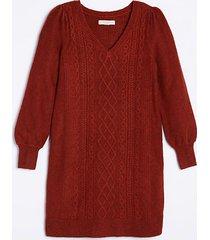 loft maternity puff sleeve cable sweater dress