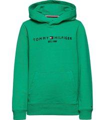 essential hoodie hoodie trui groen tommy hilfiger
