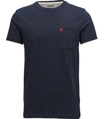 ss dun-riv pocket t t-shirts short-sleeved blå timberland