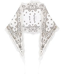 acne studios narrow diamond-shaped bandana scarf - grey