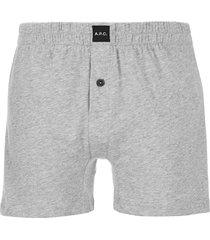 a.p.c. men's calecon cabourg boxers - gris - l - grey