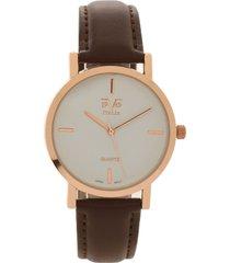 reloj café-oro rosa  versace 19.69