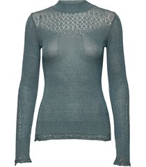 pretty pointelle turtleneck t-shirts & tops long-sleeved groen odd molly