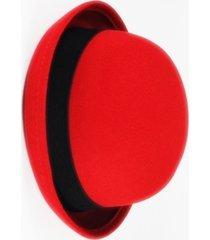 chapéu chapelaria vintage coco chaplin vermelho