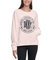 dkny sport acid-washed logo sweatshirt