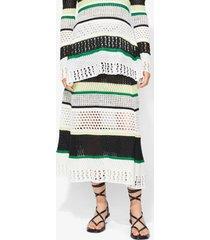proenza schouler striped knit skirt black/white/green xs