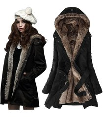 women long sleeved fur coat winter warm down jacket fashion hooded parkas size s