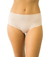 calcinha fio duplo cintura alta qtal lingerie básico bege