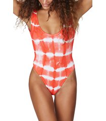 women's bound by bond-eye the mara ribbed one-piece swimsuit, size one size - coral (nordstrom exclusive)