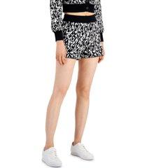 bar iii jacquard knit lounge shorts, created for macy's