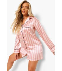 roze gestreepte nachtjapon, pink