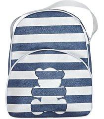 mochila padroeira baby queens listrada marinho gg - azul marinho - menino - dafiti