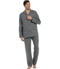 heren pyjama flannel robson 27202-701-6 grijs-3xl/58