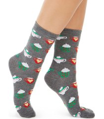 charter club women's hot cocoa crew socks, created for macy's