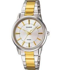 reloj casio dama elegante ltp-1303sg-7a color dorado