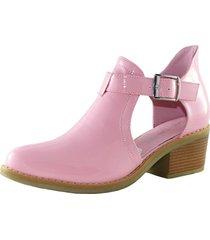zapato abierto charol pink danicolle