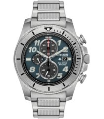 citizen eco-drive men's chronograph promaster tough stainless steel bracelet watch 44mm