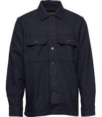 slim double-weave shirt jacket överskjorta blå banana republic