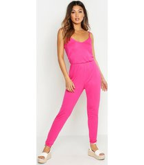 basic cami jumpsuit, hot pink