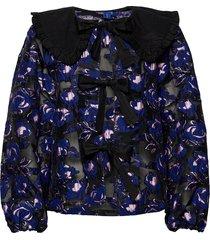 carmenrs blouse zomerjas dunne jas blauw résumé