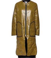 vapor coat gevoerde lange jas geel hope