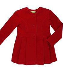 casaco lã alfaiataria gingga baby e kids vermelho juliette - kanui