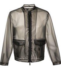 dsquared2 transparent lightweight jacket - black