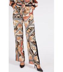 spodnie marciano w barokowy wzór
