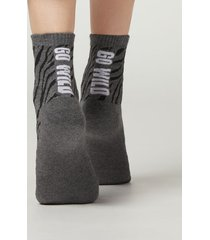 calzedonia cotton sport ankle socks woman grey size tu