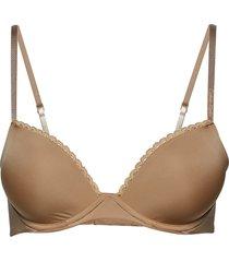 customized lift lingerie bras & tops push-up bra beige calvin klein