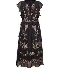 vest sandy jurk knielengte zwart desigual