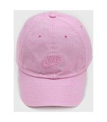 boné nike sportswear futura washed rosa