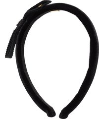 gucci velvet bow headband - black
