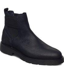 elastic hilfiger suede chelsea shoes chelsea boots svart tommy hilfiger