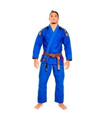 kimono jiu jitsu atama trançado ultra light 2.0 - azul