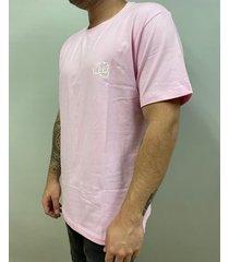 camiseta básica big logo rosado fist