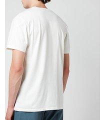 maison kitsuné men's double fox head patch t-shirt - latte - xl