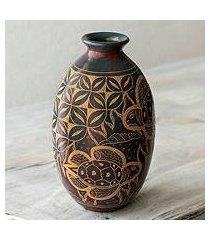 ceramic decorative vase, 'turtle coast' (nicaragua)