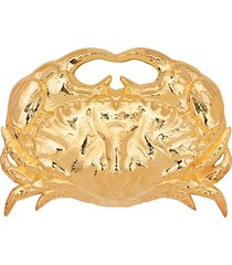 atu body couture x la vie en doré crab brooch - gold