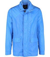 dunhill men's lightweight zip front sports jacket - pale blue - size xl