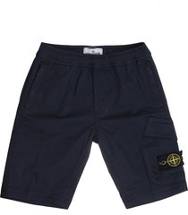 logo patch cotton shorts