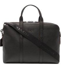 coach metropolitan soft leather briefcase - black