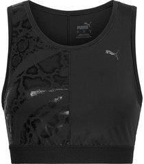 train untmd crop tank t-shirts & tops sleeveless svart puma